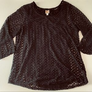 JM collection lace shirt and tank set 2x